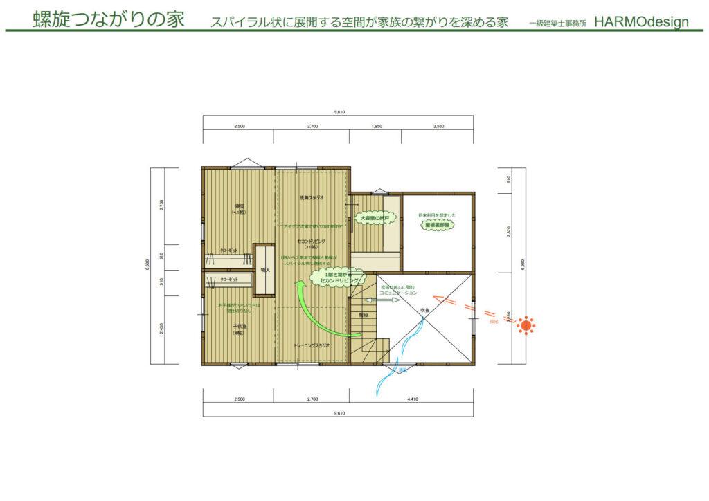 螺旋繋がりの家 2F_1